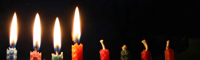 Four candles from Maurice Reeves on Flickr. Used under a creative commons license.  (https://www.flickr.com/photos/mauricereeves/3139315903)
